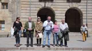 Concentración en defensa de la parada del Alvia en Reinosa