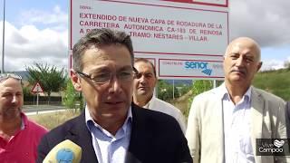 Concluye la mejora del tramo Nestares-Villar tras una inversión de 1,2 millones de euros