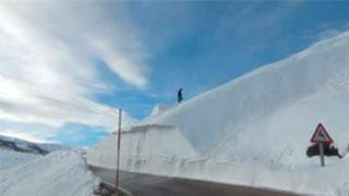 El nevero de Palombera y deportes de invierno
