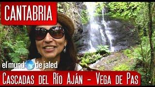Espectaculares cascadas en el cañón del RÍO AJÁN en VEGA DE PAS | CANTABRIA