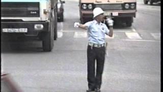 El famoso policía de trafico en Torrelavega.