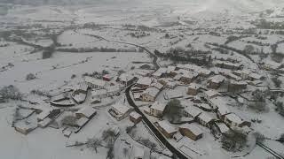 Imágenes del temporal de nieve en Montesclaros, Los Carabeos y Pozazal