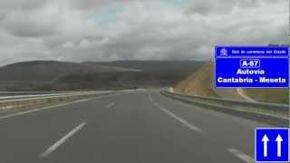 La A-67 entre Mataporquera y Bárcena de Pie de Concha