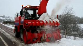 La nieve cuajó en las cotas más bajas de Campoo (23-01-2013)
