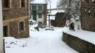 La nieve cubre Aguayo, Pesquera, Rioseco y Reinosa