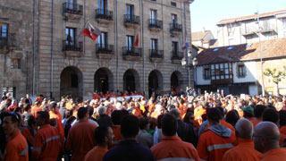 Manifestación en Reinosa en apoyo a los trabajadores de Gerdau