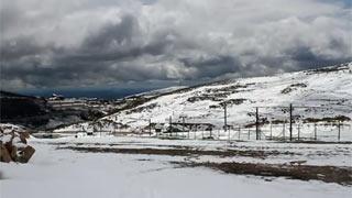 La nieve cubre Alto Campoo a finales de mayo
