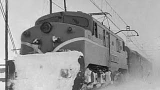 Nieve en la vías de Campoo (1956)