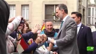 El Rey Felipe VI visita el ayuntamiento de Reinosa