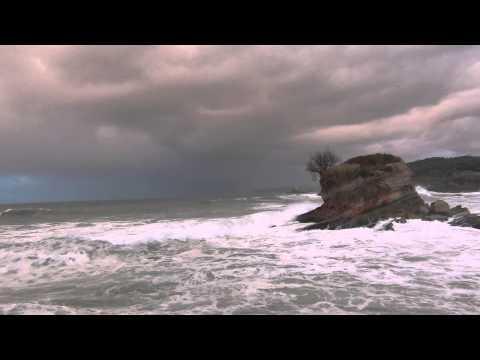 Santander Fuerte oleaje en Pleamar Febrero 2014