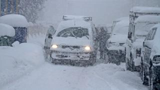 Tormenta de nieve en Campoo