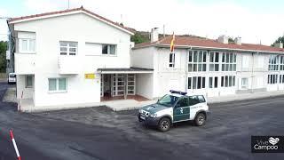 Asfaltado del cuartel de la Guardia Civil en Espinilla