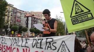 Marcha en bicicleta contra el fracking