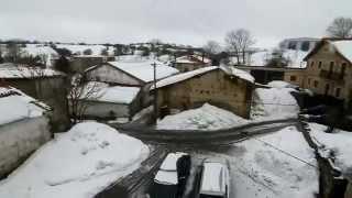 Nieve en las localidades altas de la comarca