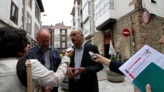 Obras Públicas inaugura la peatonalización de la calle Ábrego y la travesía de La Nevera
