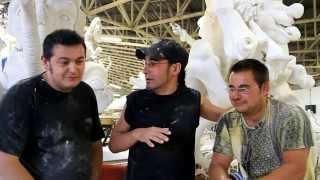 Óscar Coca y Miguel Ángel Hoyos analizan las carrozas de San Mateo en Reinosa