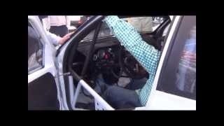 Test de coches de rally en Campoo