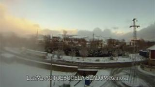Timelapse de la primera 'nevaduca' del año en Matamorosa y Reinosa