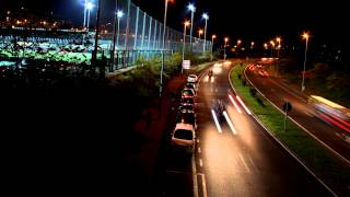 Time lapse de tráfico nocturno